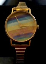 Watch Swiss Made Vintage Rainbow Colorfilled