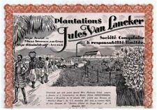 LOT OF 6 BIG RARE MINT 1927 BELGIAN CONGO BONDS! NUDE BLACK LADY, WORKERS, TRUCK