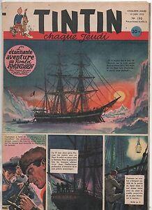 TINTIN n°190 - 12 Juin 1952. Bel état