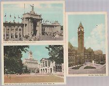 Toronto Ontario RPPC CityHall War Memorial Osgoode Hall Princess Gate CNE 1920s
