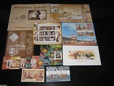 India 2011 Year Pack of 9 M/s Gandhi Elephant Tiger Cinema  Airmail Tagore MNH