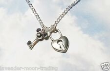 """KEY TO MY HEART DISNEY PENDANT/NECKLACE with silver plated 18"""" CHAIN"""