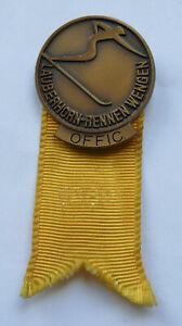 Insigne Coupe du Monde de SKI WENGEN 1969 Officiel F.I.S. Broche Lauberhorn