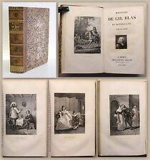 LE SAGE Histoire de Gil Blas de Santillane 1836 Visage & panneaux Desenne XZ