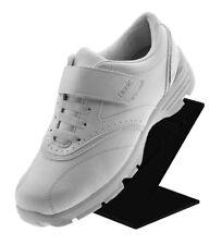 "Black Slant Back Acrylic Shoe Riser 3""W x 6""H x 4 1/16""D with Heel Stop"