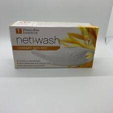 Himalayan Institute  Ceramic Neti Pot  Nasal Cleansing NIB