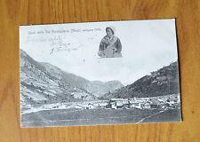 CARTOLINA SALUTI DA VAL GERMAGNASCA GHIGO RARA VIAGGIATA 1906 SUBALPINA QQ
