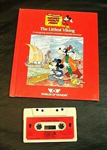 TALKING MICKEY MOUSE THE LITTLEST VIKING BOOK/TAPE WORLDS OF WONDER HARD COVER