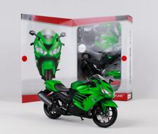 Maisto 1:12 Kawasaki Ninja ZX 14R Green Assemble DIY Motorcycle Bike Model KITS