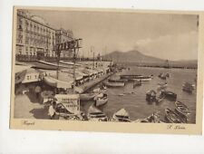 Napoli Santa Lucia Italy Vintage Postcard 619b