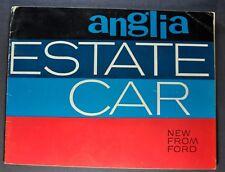 1963 Anglia Estate Car English Ford Catalog Sales Brochure Original 63