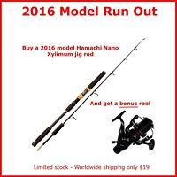 2016 Hamachi Nano Xylimum Jig PE2-5 Japanese rod Fishing 20 50 LB + BONUS REEL