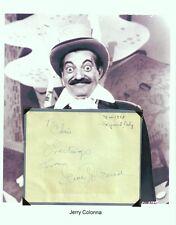 Jerry Colonna Autograph Zaniest Bob Hope Sidekick Road to Singapore Hong Kong