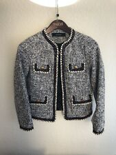 Zara basic Blue Red Blazer Coat Jacket Size XS NWT