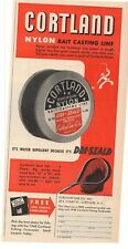 1948 Cortland Nylon Bait Casting Line Advertisement