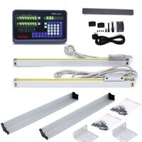"TTL Linear Glass Scale 10"" 48"" 2Axis Digital Readout Display DRO Kit CNC Milling"