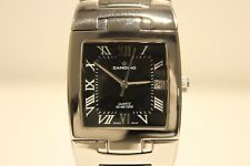 "RETRO BEAUTIFUL  SWISS MEN'S STAINLESS STEEL QUARTZ  WATCH WITH ""CANDINO"""