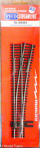Peco HO #SL-E8351 Right Hand Turnout #5 (NEW IN PACKAGE) 1:87th Scale