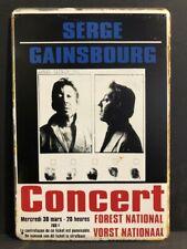 SERGE GAINSBOURG CONCERT Advert Vintage Retro Metal Sign Poster Home 30x20cm