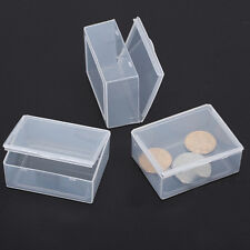 5pcs Clear Plastic Storage Box Collection Container Case Part Box XU