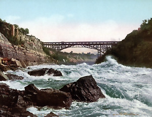 "1900 Whirlpool Rapids, Niagara River, NY Vintage/ Old Photo 8.5"" x 11"" Reprint"