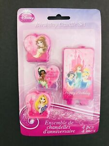 Disney Princesses Birthday Party Candle Happy Birthday 4pcs Set
