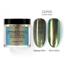 Born Pretty Glitter Holographics Dipping Powder Chameleon Acrylic Tips Nail Art
