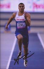 Athletics: Adam Gemili Signed 6x4 Action Photo+Coa *Rio 2016* *Team Gb*