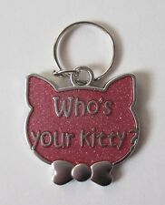 x Who's your kitty Engraveable Cat Pet Collar Charm ganz jewelry