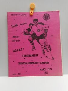 Vintage - TRENTON LIONS - 12th Annual Midget All-Star HOCKEY TOURNAMENT - 1973