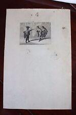 ✒ 1879 Eau-Forte BARRIAS Corneille LE MENTEUR (V,III) - sur papier Japon 100ex.