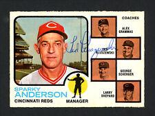 Ted Kluszewski Autographed Signed Auto 1973 O-Pee-Chee Card #296 Reds 165459