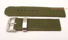Fabric Army Type Woven Green Watch Strap Fits Seiko SNK805 18MM