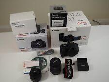 Canon EOS Rebel T3i / Kiss X5 18.0MP Digital SLR Camera - Black 3 lenses