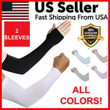 1 Pair Unisex Outdoor Sports Cooling Arm Sleeves Cover UV Sun Protection USA New