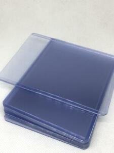 "10pcs 3""x4"" Regular Toploader Hard Plastic Sleeves Trading Cards Protector 35PT"