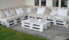 Divano angolare in legno con Pallet Bancali EUR  EPAL arredamento mt 3,20 x 2,40