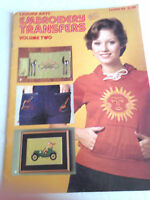 1975 Leisure Arts EMBROIDERY TRANSFERS VOL. TWO PATTERN LEAFLET 48 14 TRANSFERS
