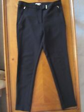 WOMENS H&M BLACK STRAIGHT LEG COMFY WORK PANTS TROUSERS SIZE 10 US 40 EUR NEW