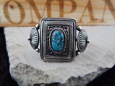 Turquoise & Sterling Silver Bracelet - Navajo - Leon Martinez - Native American