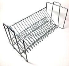 CD Rack Storage Jewel Case Holder Stand Organizer Metal Shelf Disc Decor Grey