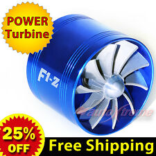 For FORD TURBO Supercharger AIR INTAKE TURBONATOR Gas Fuel Saver Fan BLUE