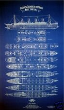 Ships Plan RMS TITANIC 1912 White Star Line Blueprint Drawing 21x34 (001)