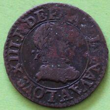 FRANCE DOUBLE TOURNOIS LOUIS XIII 1612
