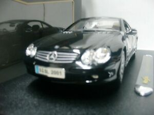 WOW EXTREMELY RARE Mercedes SL500 Coupe H.Top 2001 Black 36624K 1:18 Maisto-R230