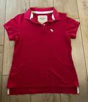 Abercrombie & Fitch Women's Polo T Shirt Pink Medium Cotton Blend *Marks*
