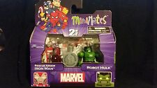 RESCUE ARMOR IRON MAN & ROBOT HULK TRUS EXCLUSIVE MARVEL MINIMATES  WAVE 17