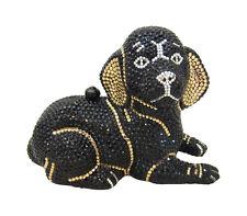 Anthony David Black Lab Labrador Dog Crystal Evening Bag with Swarovski Crystals