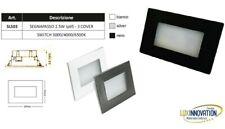 Segnapasso led per 503 ip 65 luce fredda naturale calda switc acciao bianco nero