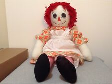 "Handmade Jumbo 36"" Raggedy Ann Doll All Soft Parts Cuddly Huggable! NEW! (#IB-5)"